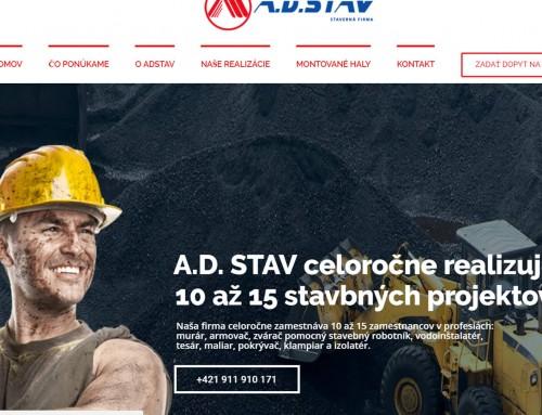 Internetová stránka pre Stavebnú firmu
