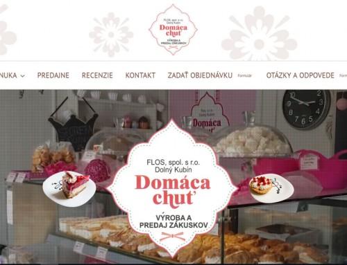 Hotová internetová stránka pre domacachut.sk