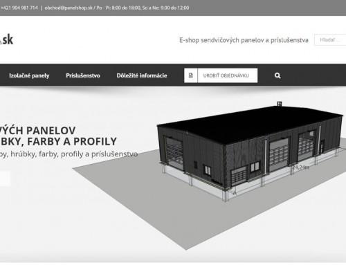 Hotový e-shop pre internetový obchod panelshop.sk