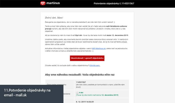 (11.Ukážka potvrdenia objednávky na email - mall.sk)