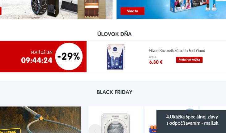 (4.Ukážka špeciálnej zľavy s odpočítavaním - mall.sk)