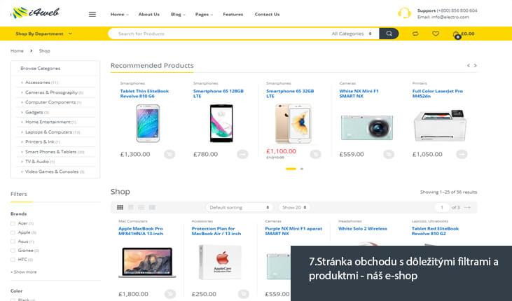 (7.Ukážka stránky obchodu s dôležitými filtrami a produktmi - náš e-shop)