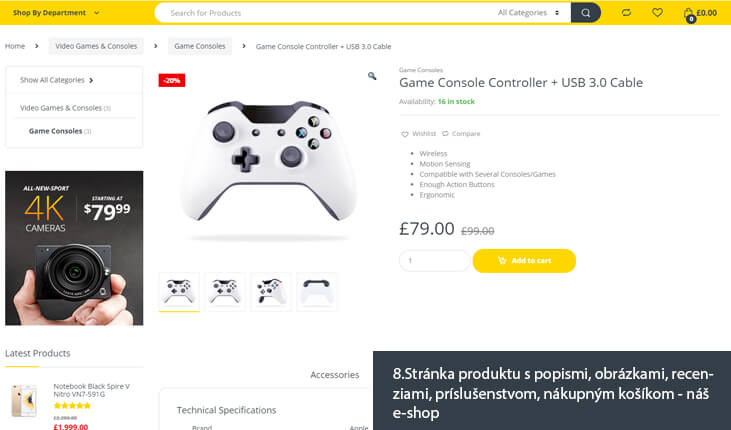 (8.Ukážka stránky produktu - náš e-shop)