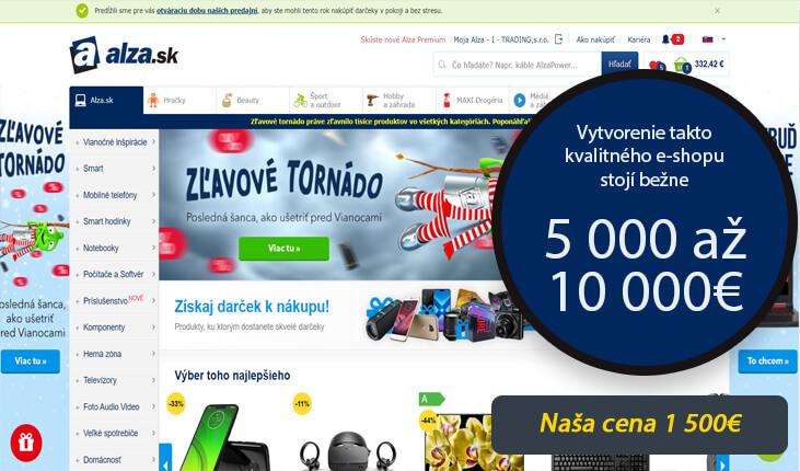(Vytvorenie takto kvalitného e-shopu stojí bežne5 000 až 10 000€)