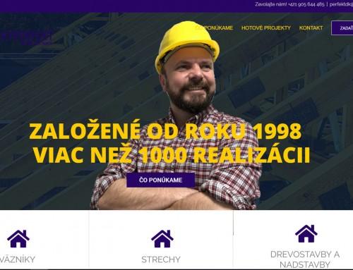 Internetová stránka pre strechárov
