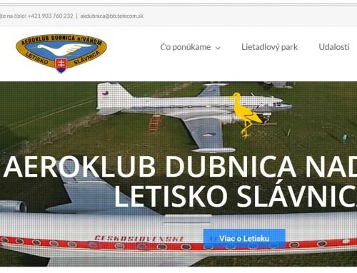 Internetová stránka pre Letisko